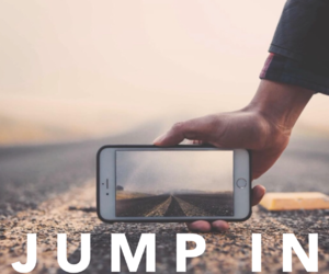 road, iphone, and jump image