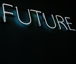 blue, future, and neon image