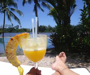 beach, costa rica, and feet image