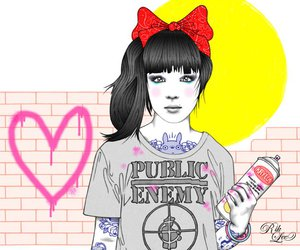 girl, public enemy, and rik lee image