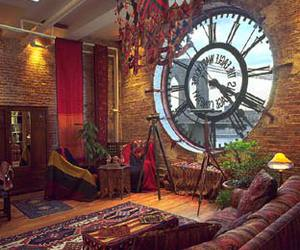 clock and window image