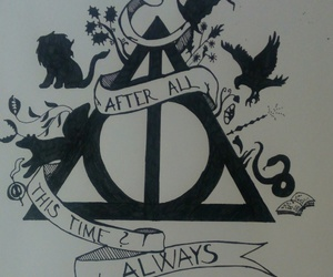 always, deathly hallows, and drawing image