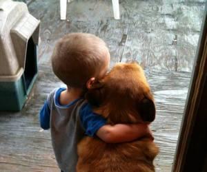 boy, buddies, and dog image