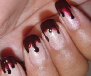nails, blood, and Halloween image