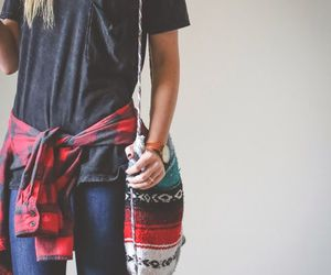 outfit, style, and flannel image