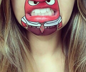 lips, funny, and makeup image