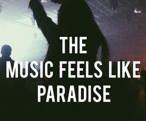 music, paradise, and party image