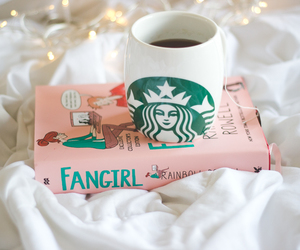 book, coffee, and fangirl image