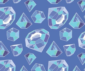 blue, diamonds, and wallpaper image