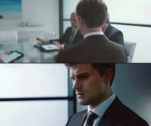 christian grey, fifty shades of grey, and Jamie Dornan image