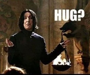 harry potter, hug, and snape image