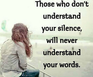 quote, life, and silence image