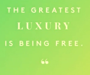 luxury and being+free image
