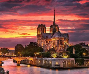 travel, france, and sunset image