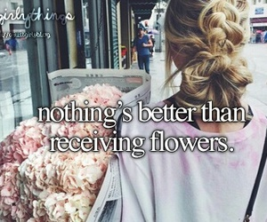 flowers, girl, and just girly things image