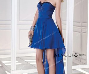 blue homecoming dresses and alyce paris dresses image