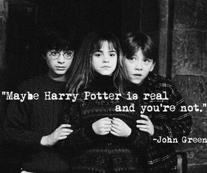 harry potter, john green, and real image