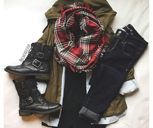 boots, fashion, and outfit image