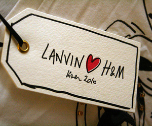 H&M and Lanvin image