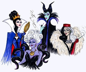 disney, ursula, and maleficent image