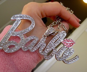 barbie, necklace, and pink image