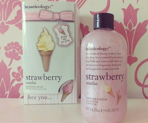 pink, strawberry, and girly image