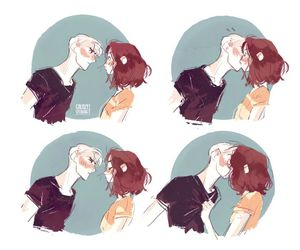 kiss, harry potter, and art image