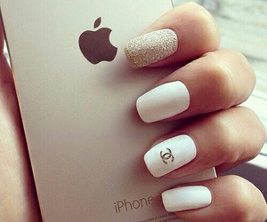 nails, iphone, and chanel image