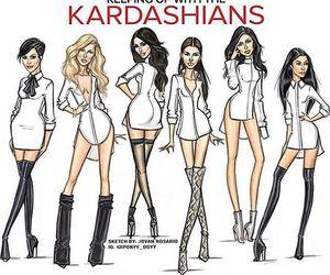 kardashians, khloe kardashian, and kourtney kardashian image