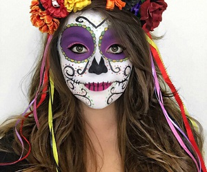 calavera, mexicana, and catrina image