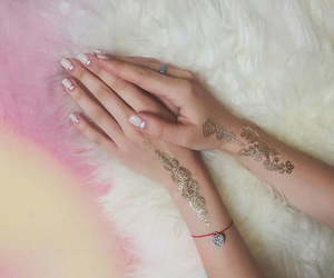 arms, nail, and manicure image
