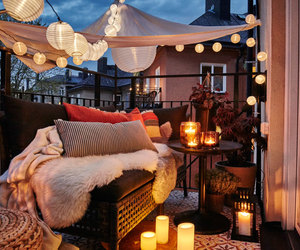 lights, balcony, and decor image
