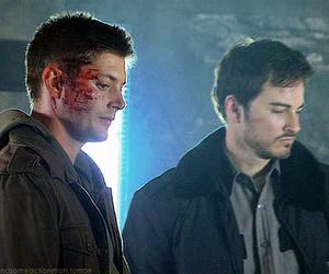 Jensen Ackles, dean winchester, and jared padalecki image