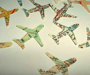 map, travel, and planes image