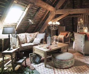 attic, cottage, and country image