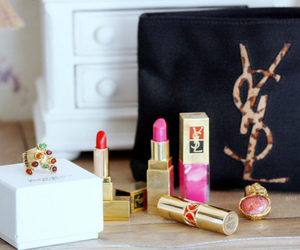 YSL, pink, and beauty image