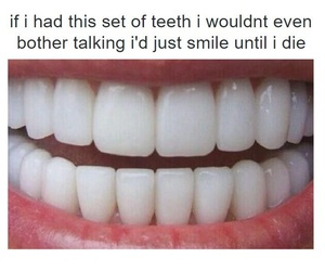 teeth, funny, and smile image