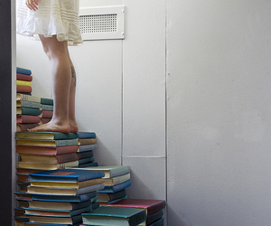 book and stairway image