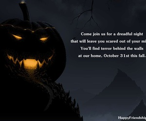 haunted house, halloween party, and party invitation image