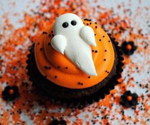 Halloween, cupcake, and ghost image