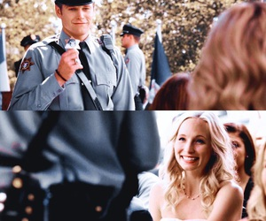 the vampire diaries, caroline forbes, and matt donovan image