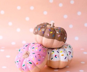 pumpkin, Halloween, and donuts image