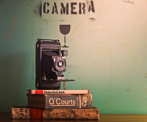 camera, vintage, and book image