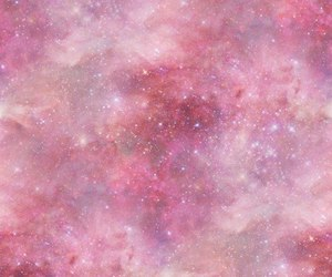 galaxy, pink, and stars image