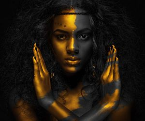 gold, black, and art image
