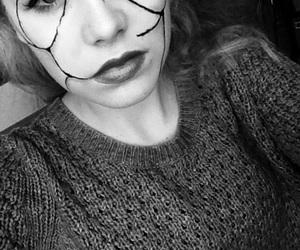 blackandwhite, costume, and eyes image