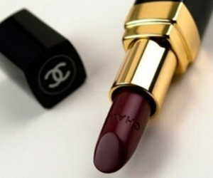 chanel, lipstick, and black image
