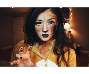 costume, lion, and zombie image