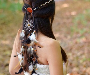 bohemian hairstyle image