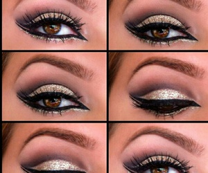 makeup, make up, and eyebrows image